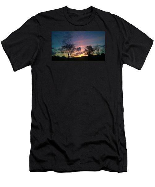 Sunset On Hunton Lane #12 Men's T-Shirt (Slim Fit) by Carlee Ojeda