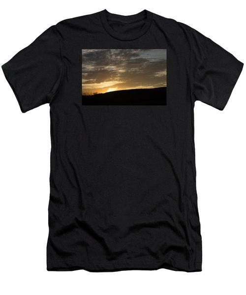 Sunset On Hunton Lane #3 Men's T-Shirt (Slim Fit) by Carlee Ojeda