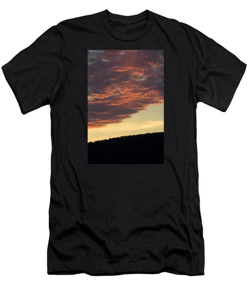Sunset On Hunton Lane #8 Men's T-Shirt (Slim Fit) by Carlee Ojeda