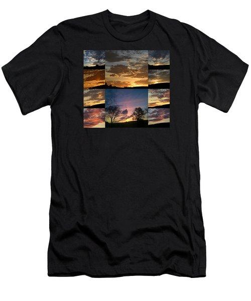 Sunset On Hunton Lane Men's T-Shirt (Slim Fit) by Carlee Ojeda