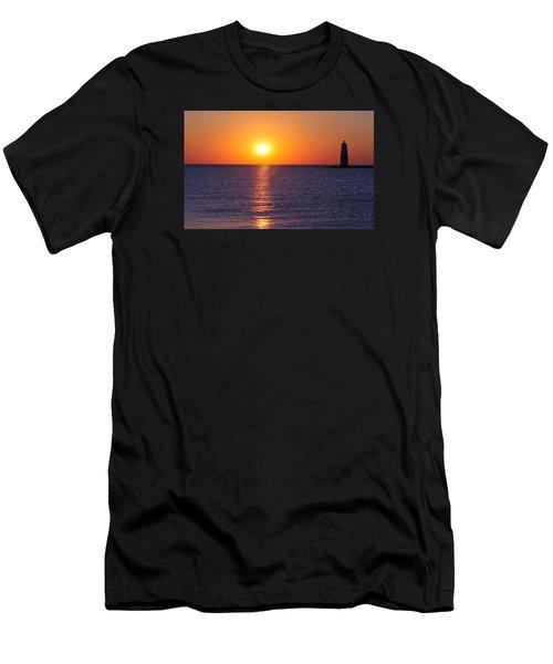 Sunset On Lake Michigan Men's T-Shirt (Athletic Fit)