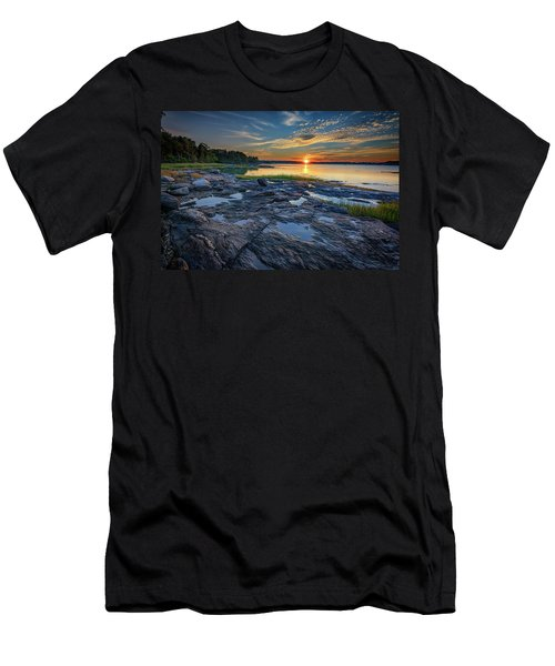 Men's T-Shirt (Athletic Fit) featuring the photograph Sunset On Littlejohn Island by Rick Berk