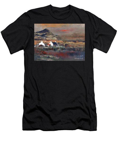 Sunset On Mount Errigal, Dunegal Men's T-Shirt (Athletic Fit)