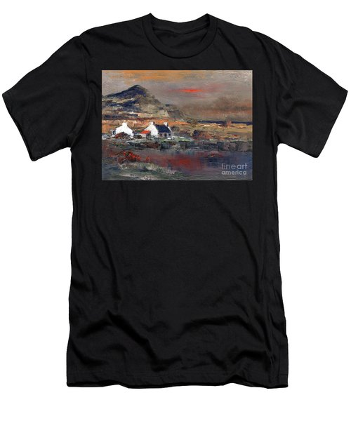 Sunset On Mount Errigal, Dunegal Men's T-Shirt (Athletic Fit)