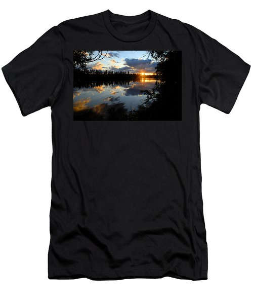 Sunset On Polly Lake Men's T-Shirt (Slim Fit) by Larry Ricker