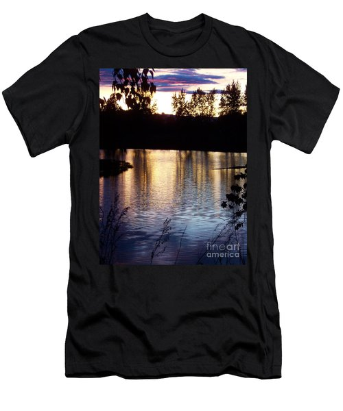 Sunset On River Men's T-Shirt (Athletic Fit)