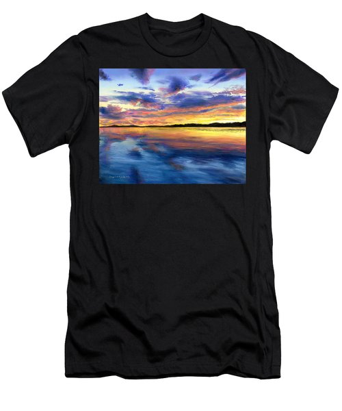Sunset On Snow Pond Men's T-Shirt (Athletic Fit)
