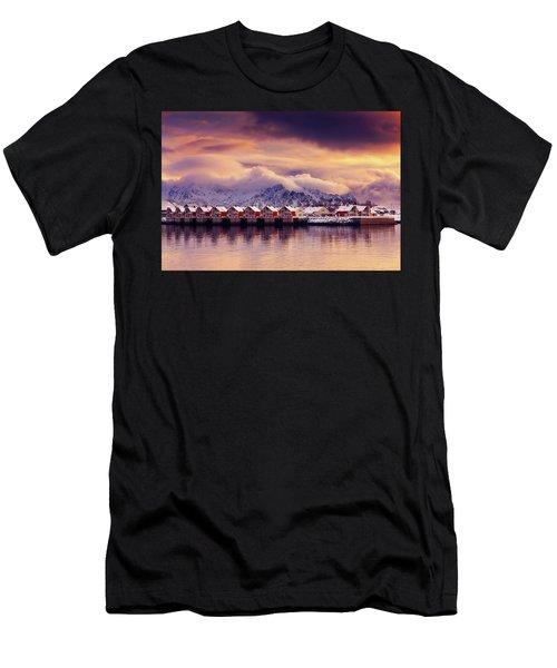 Sunset On Svolvaer Men's T-Shirt (Athletic Fit)