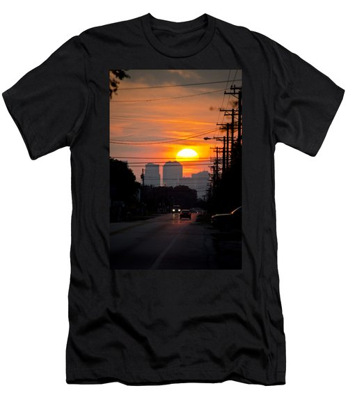 Sunset On The City Men's T-Shirt (Athletic Fit)