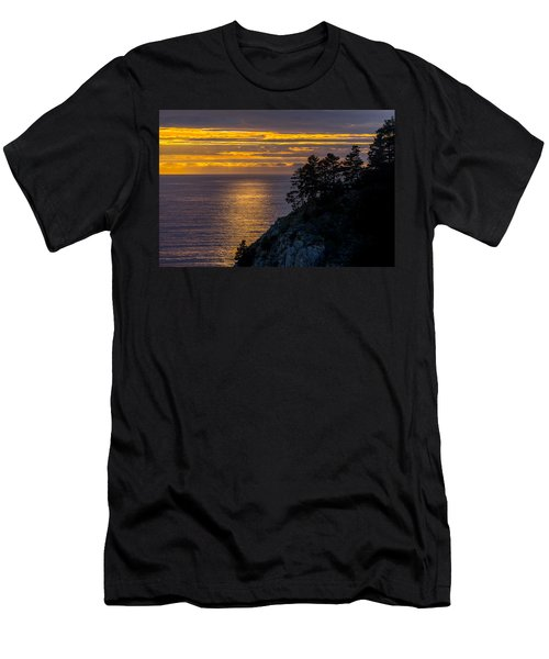 Sunset On The Edge Men's T-Shirt (Athletic Fit)