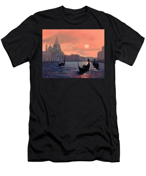 Sunset On The Grand Canal In Venice Men's T-Shirt (Athletic Fit)