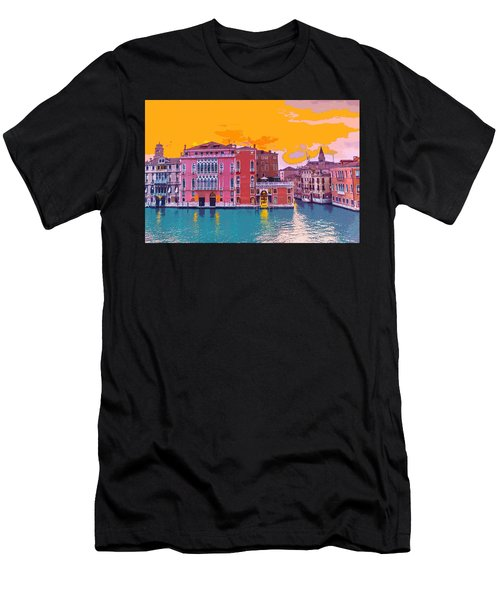 Sunset On The Grand Canal Venice Men's T-Shirt (Athletic Fit)