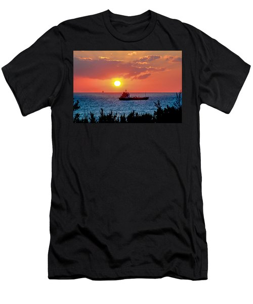 Sunset On The Horizon Men's T-Shirt (Athletic Fit)