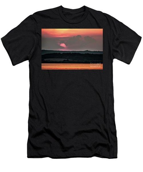 Sunset On The Lake Velence Paint Men's T-Shirt (Athletic Fit)
