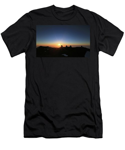 Sunset On The Mauna Kea Observatories Men's T-Shirt (Athletic Fit)