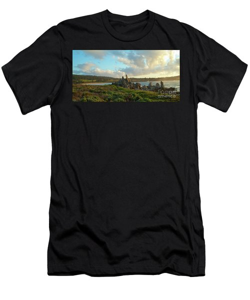 Sunset On The Pacific Ocean  Men's T-Shirt (Athletic Fit)