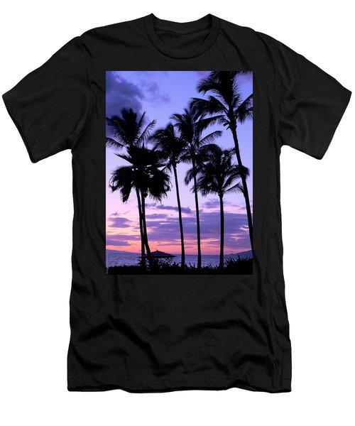Men's T-Shirt (Slim Fit) featuring the photograph Sunset On The Palms by Debbie Karnes