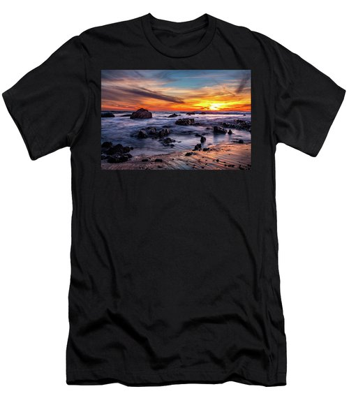 Sunset On The Rocks Men's T-Shirt (Athletic Fit)