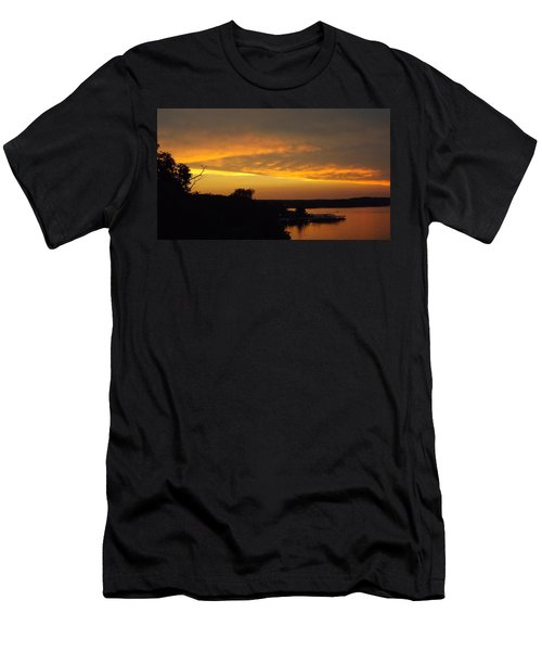 Sunset On The Shore  Men's T-Shirt (Slim Fit) by Don Koester