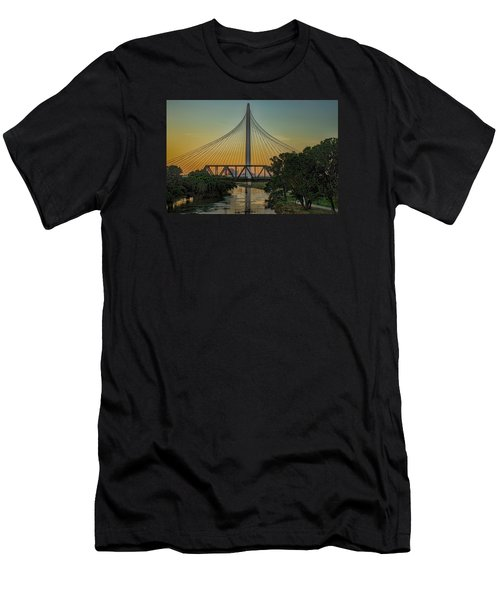 Sunset On The Trinity Men's T-Shirt (Athletic Fit)