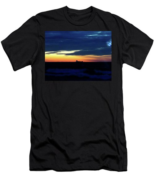 Sunset On Winter Solstice Eve Men's T-Shirt (Athletic Fit)