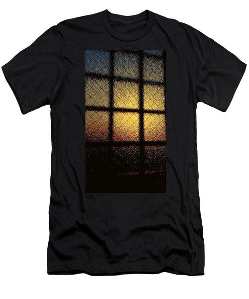 Sunset Orange Men's T-Shirt (Athletic Fit)