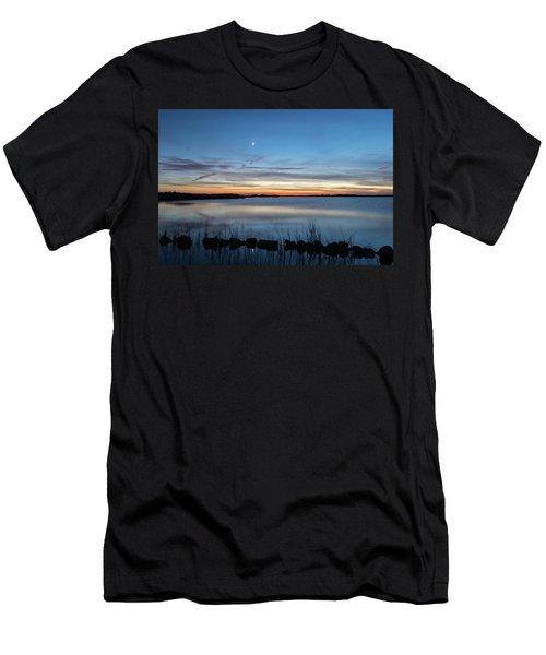 Sunset Over Back Bay Men's T-Shirt (Athletic Fit)