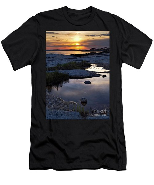 Sunset Over Boothbay Harbor Maine  -23095-23099 Men's T-Shirt (Athletic Fit)