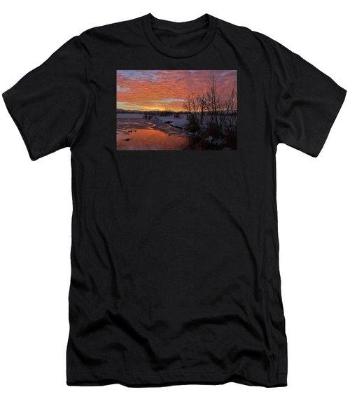 Sunset Over Bountiful Lake Men's T-Shirt (Slim Fit) by Utah Images