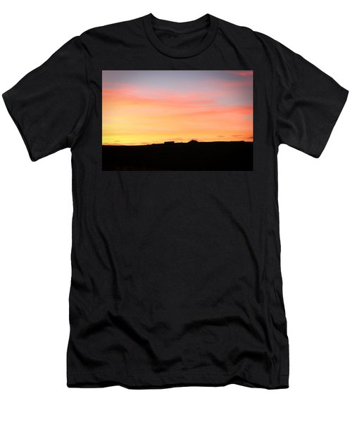 Sunset Over Cairnpapple Men's T-Shirt (Slim Fit) by RKAB Works