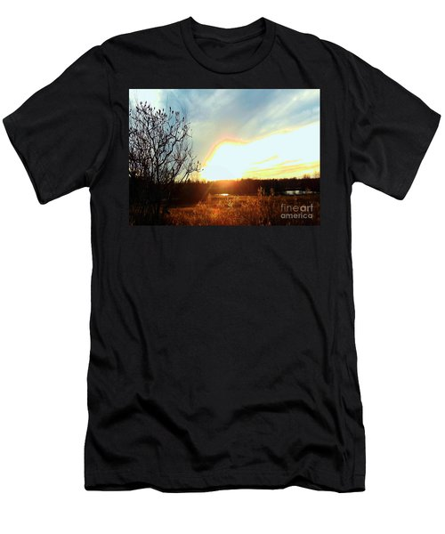 Sunset Over Fields Men's T-Shirt (Athletic Fit)