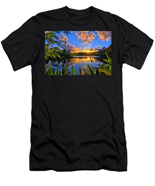 Sunset Over Hidden Lake In Jupiter Florida Men's T-Shirt (Athletic Fit)