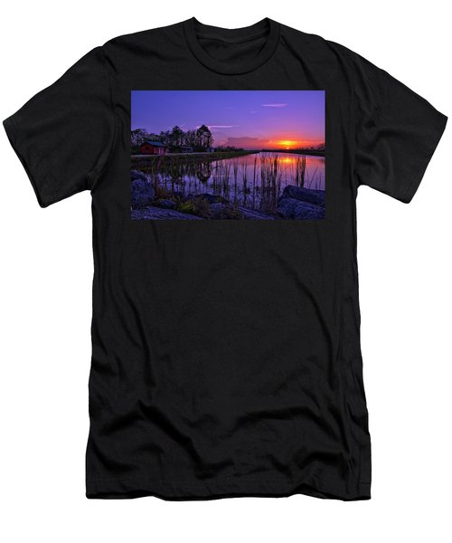 Sunset Over Hungryland Wildlife Management Area Men's T-Shirt (Athletic Fit)