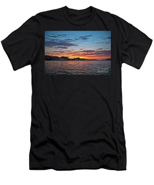 Sunset Over Huntington Harbour Men's T-Shirt (Athletic Fit)
