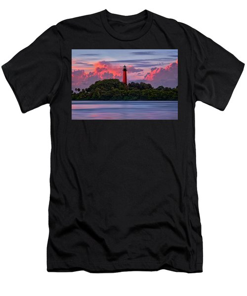 Sunset Over Jupiter Lighthouse, Florida Men's T-Shirt (Slim Fit) by Justin Kelefas