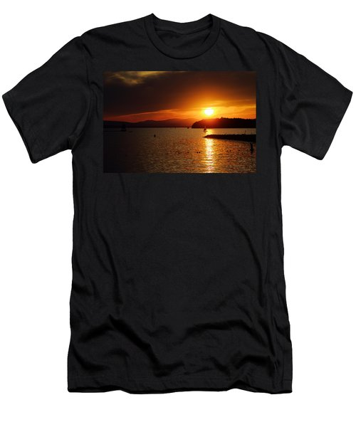 Sunset Over Lake Champlain Men's T-Shirt (Athletic Fit)