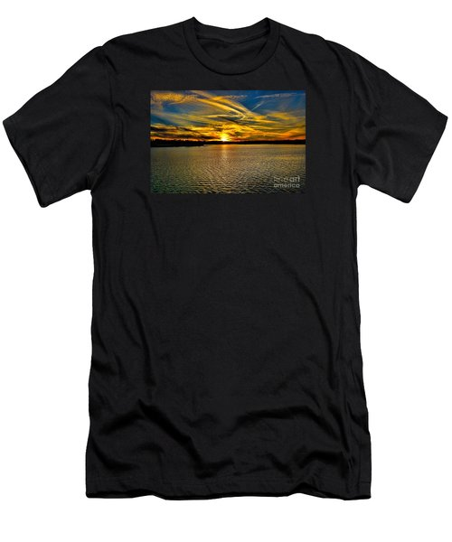 Sunset Over Lake Palestine Men's T-Shirt (Athletic Fit)