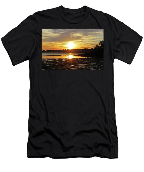 Sunset Over Lynch Park Beverly Ma Men's T-Shirt (Athletic Fit)