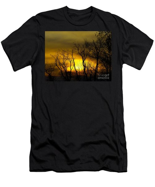 Sunset Over Our Free Land Men's T-Shirt (Athletic Fit)