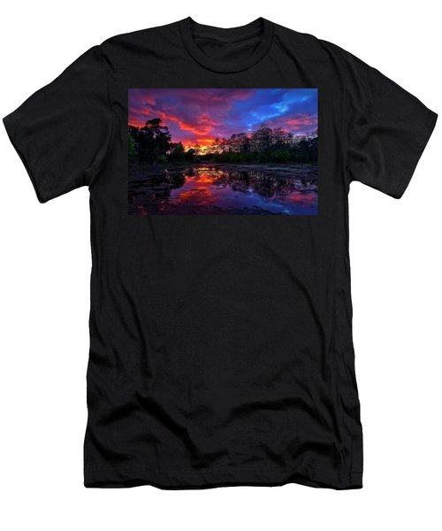 Sunset Over Riverbend Park In Jupiter Florida Men's T-Shirt (Athletic Fit)