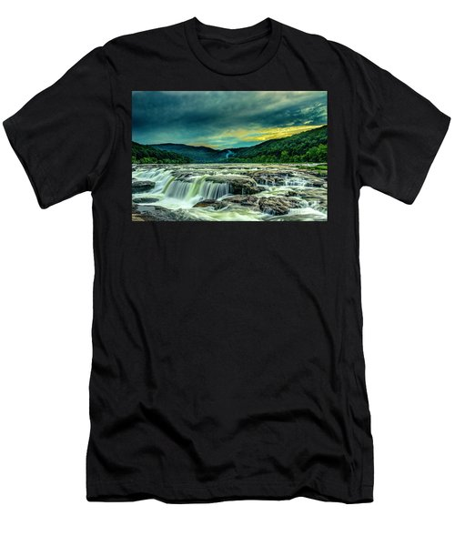 Sunset Over Sandstone Falls Men's T-Shirt (Athletic Fit)
