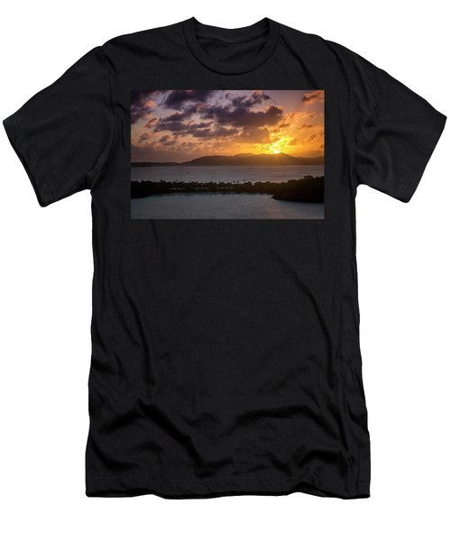 Men's T-Shirt (Athletic Fit) featuring the photograph Sunset Over St. Thomas by Adam Romanowicz