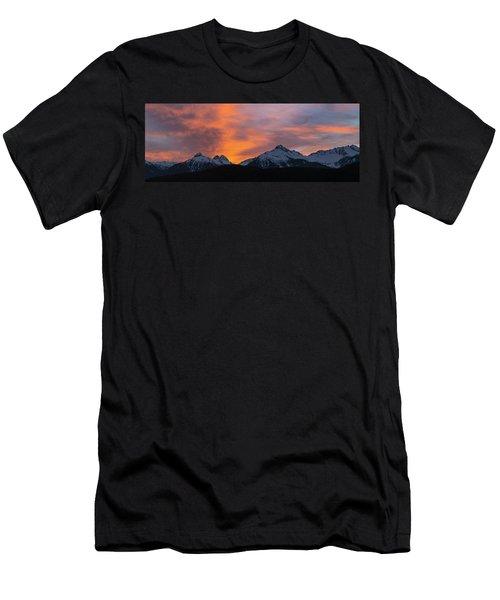 Sunset Over Tantalus Range Panorama Men's T-Shirt (Athletic Fit)