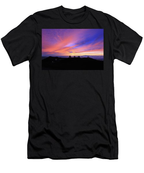 Sunset Over The Clouds Men's T-Shirt (Athletic Fit)