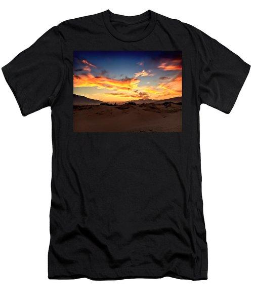 Sunset Over The Desert Men's T-Shirt (Athletic Fit)