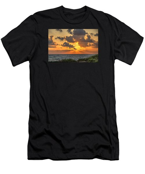 Sunset Over The Mediterranean  Men's T-Shirt (Athletic Fit)