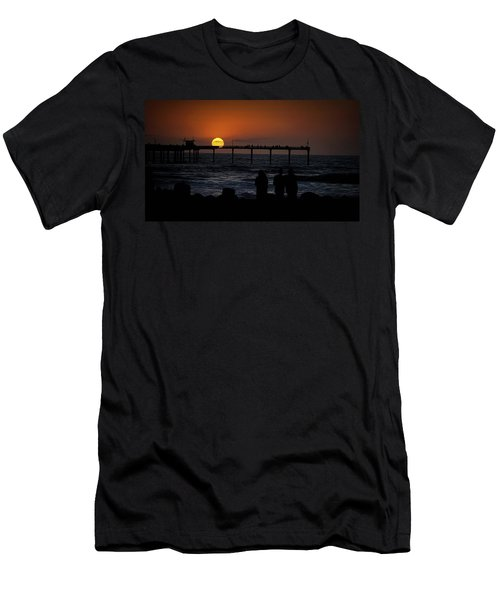 Sunset Over The Pier Men's T-Shirt (Athletic Fit)