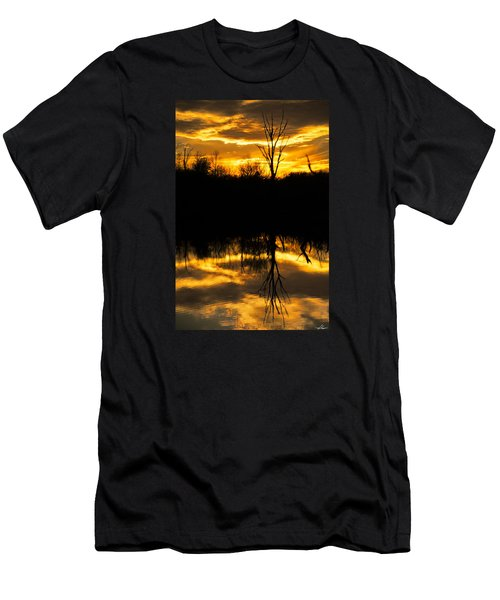 Sunset Over The Sabine River Men's T-Shirt (Athletic Fit)