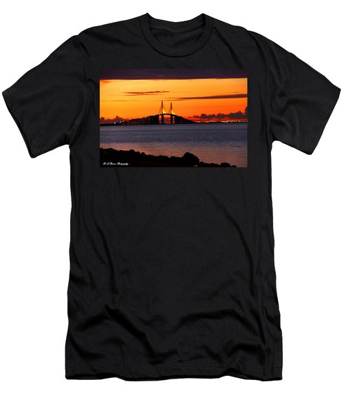 Sunset Over The Skyway Bridge Men's T-Shirt (Athletic Fit)