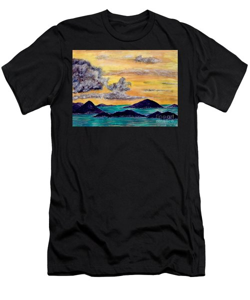 Sunset Over The Virgin Islands Men's T-Shirt (Athletic Fit)